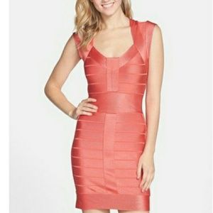 French Connection Coral Bandage Dress US Size 4